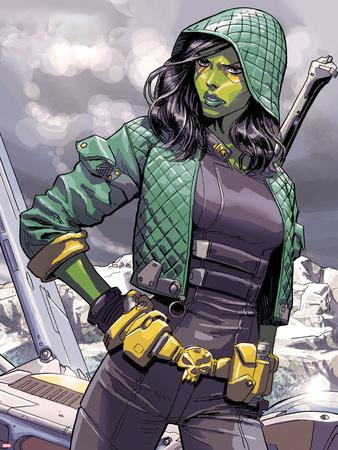 Guardians of the Galaxy Panel Featuring Gamora