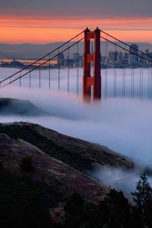 Paradise Sunrise and Fog, Golden Gate Bridge, San Francisco