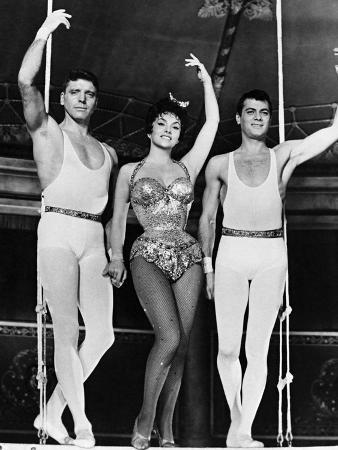 Burt Lancaster, Gina Lollobrigida, Tony Curtis, Trapeze, 1956