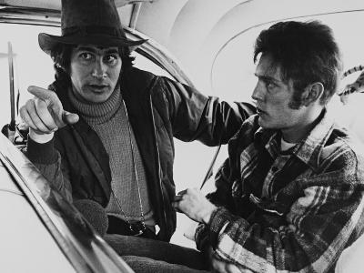 Steven Spielberg, William Atherton, the Sugarland Express, 1974