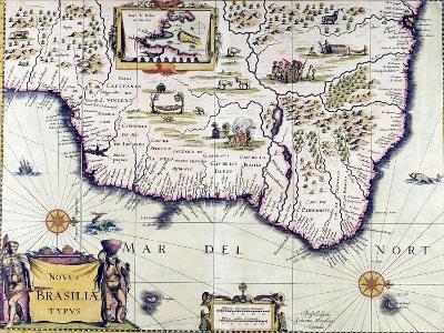 Mapa de Brasil, Servicio Cartográfico Del Ejército, Madrid, España