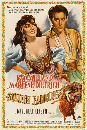 Marlene Dietrich, Ray Milland, Golden Earrings, 1947