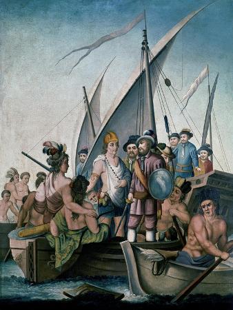 Conquista de Mexico, Garcia de Holguin Prense a Guatimozin