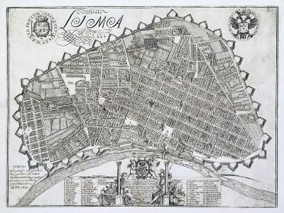 Plano de La Ciudad de Lima, 1687
