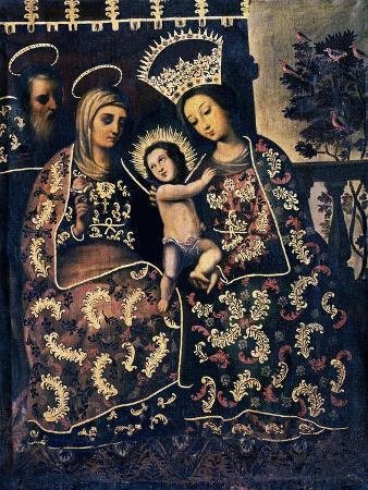 Niño Jesús, Virgen María, Santa Ana y San Joaquín, Museo de Arte Colonial, Bogotá, Colombia