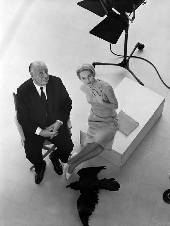 Tippi Hedren, Alfred Hitchcock, the Birds, 1963