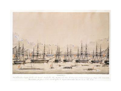 Desembarco de Las Tropas Españolas en La Isla Margarita,1817