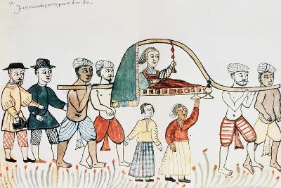 Alfonso de Alburqueque Entrando en Goa: Mujer en Baldaquino, Cod,1889