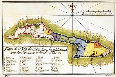 Plano de La Isla de Cuba Para La Inteligencia de Los Partidos Donde Se Siembra El Tabaco