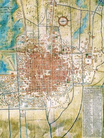 Detallo Del Plano de La Ciudad de Mexico y Sus Alrededores, 1753