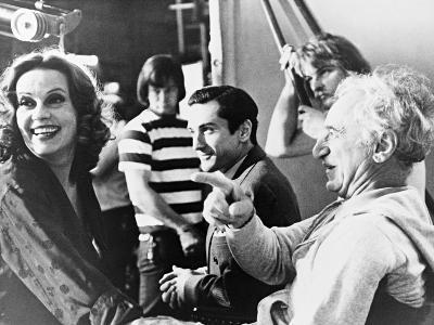 Jeanne Moreau, Elia Kazan, Robert De Niro, the Last Tycoon, 1976
