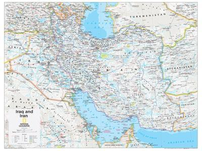 2014 Iraq and Iran - National Geographic Atlas of the World, 10th Edition