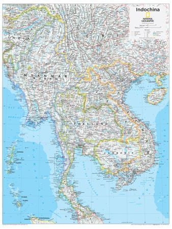 2014 Indochina - National Geographic Atlas of the World, 10th Edition