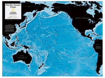 2014 Pacific Ocean Floor - National Geographic Atlas of the World, 10th Edition