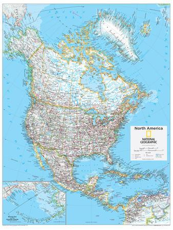 2014 North America Political - National Geographic Atlas of the World, 10th Edition