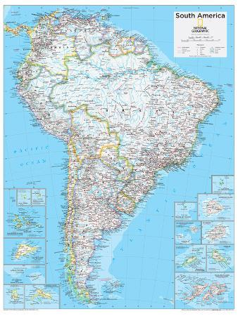 Political South American Map.2014 South America Political National Geographic Atlas Of The