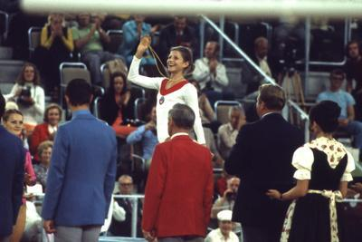 Russian Gymnast Olga Korbut Winner at the 1972 Summer Olympic Games in Munich, Germany