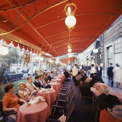 Rome's Cafe De Paris on Via Veneto, a Favorite After-Hours Sitting Spot for Natives and Tourists