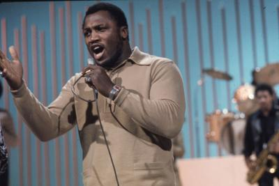 Joe Frazier Rehearsing with His Band Joe Frazier and the Knockouts for Don Rickles Show, 1971