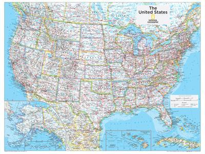 2014 United States Political - National Geographic Atlas of the World, 10th Edition