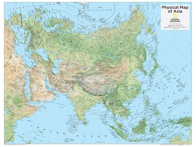 2014 Asia Physical - National Geographic Atlas of the World, 10th Edition