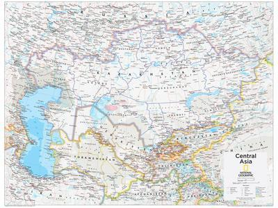 2014 Central Asia - National Geographic Atlas of the World, 10th Edition