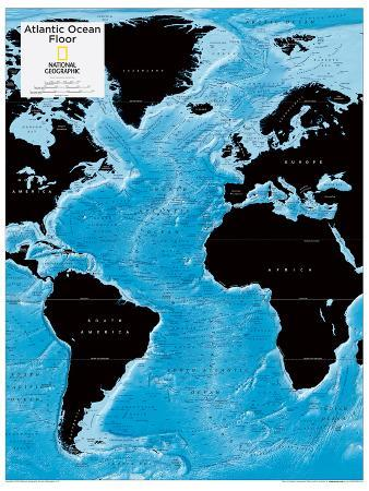 2014 Atlantic Ocean Floor - National Geographic Atlas of the World, 10th Edition