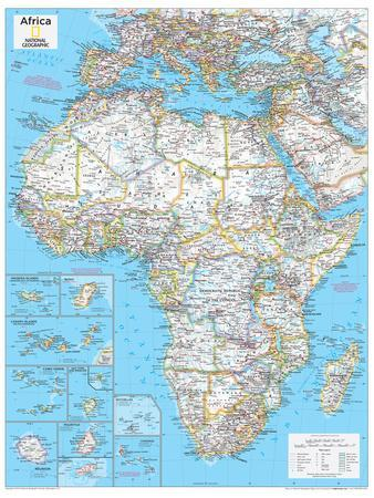 2014 Africa Political - National Geographic Atlas of the World, 10th Edition