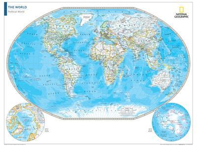 2014 Political World Map - National Geographic Atlas of the World, 10th Edition