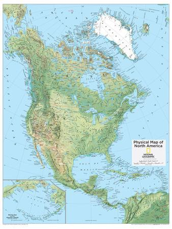 2014 North America Physical - National Geographic Atlas of the World, 10th Edition