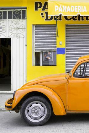 ¡Viva Mexico! Collection - Orange VW Beetle Car II