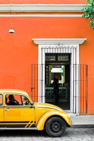 ¡Viva Mexico! Collection - Volkswagen Beetle Car - Orange & Gold