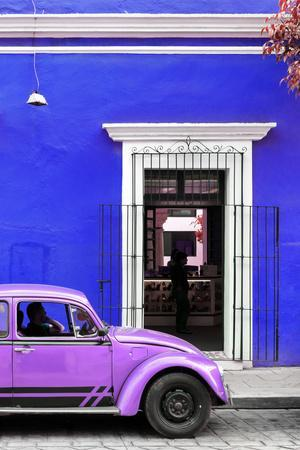 ¡Viva Mexico! Collection - Volkswagen Beetle Car - Royal Blue & Purple