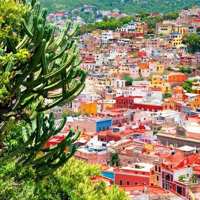 ¡Viva Mexico! Square Collection - Guanajuato Cityscape XII