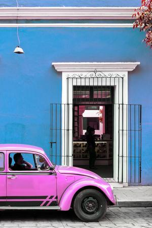 ¡Viva Mexico! Collection - Volkswagen Beetle Car - Blue & Hot Pink