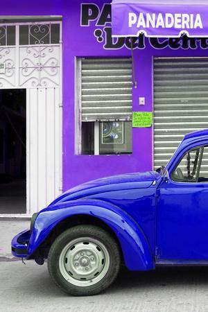 ¡Viva Mexico! Collection - Blue VW Beetle Car