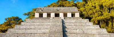 ¡Viva Mexico! Panoramic Collection - Mayan Temple of Inscriptions with Fall Colors II