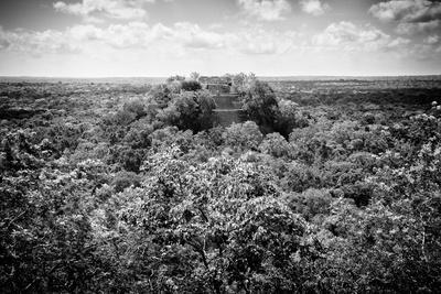 ¡Viva Mexico! B&W Collection - Ruins of the ancient Mayan city of Calakmul