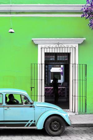 ¡Viva Mexico! Collection - Volkswagen Beetle Car - Lime Green & Powder Blue