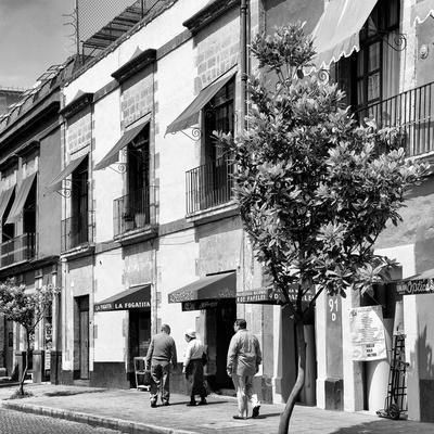 ¡Viva Mexico! Square Collection - Mexico City B&W Facades