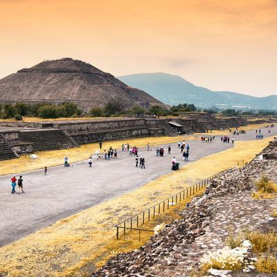 ¡Viva Mexico! Square Collection - Teotihuacan Pyramids at Sunset