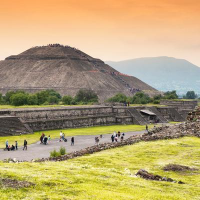 ¡Viva Mexico! Square Collection - Teotihuacan Pyramids at Sunset II