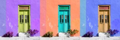 ¡Viva Mexico! Panoramic Collection - Tree Colorful Doors II