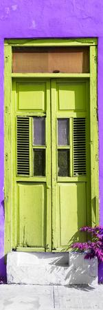 ¡Viva Mexico! Collection - Lime Green Window and Purple Wall
