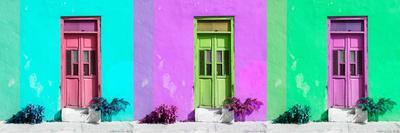 ¡Viva Mexico! Panoramic Collection - Tree Colorful Doors I