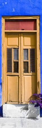 ¡Viva Mexico! Collection - Dark Yellow Window and Royal Blue Wall