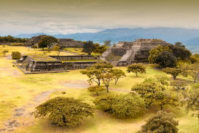 ¡Viva Mexico! Collection - Ruins of the Zapotec civilization in Oaxaca with Fall Colors