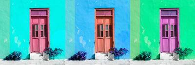 ¡Viva Mexico! Panoramic Collection - Tree Colorful Doors V