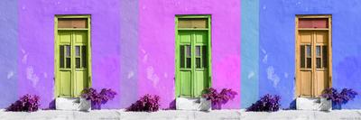 ¡Viva Mexico! Panoramic Collection - Tree Colorful Doors III