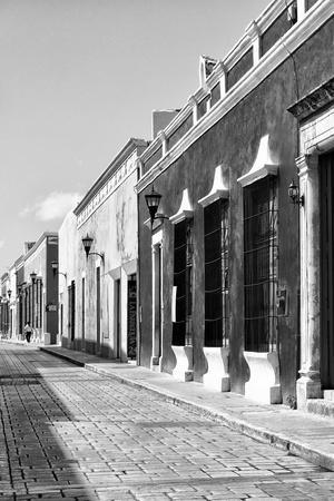 ¡Viva Mexico! B&W Collection - Campeche Street Scene III